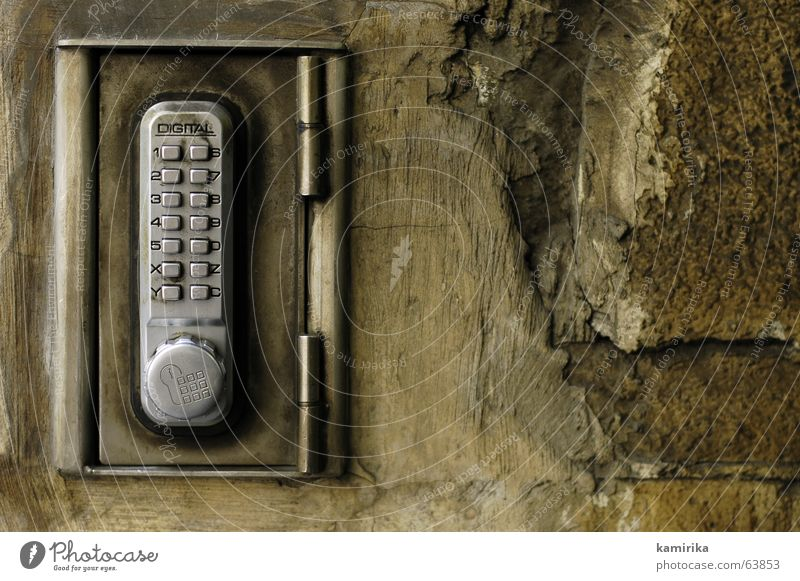 Wall (building) Brown Metal Door Castle Steel Close Digital photography Lock Undo Rough Sandstone Door lock Pocket calculator