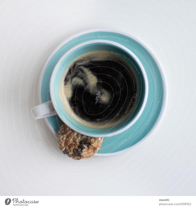 Blue Emotions Small Moody Food Beverage Coffee Strong Candy Fatigue Crockery Cup Cookie Cold drink Espresso Coffee break