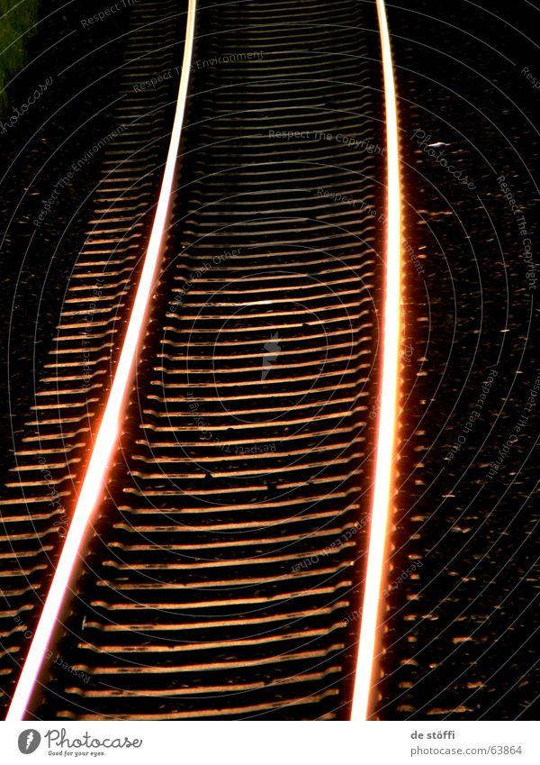 Sun Dark Warmth Lighting Railroad Railroad tracks Traffic infrastructure Flashy Incandescent