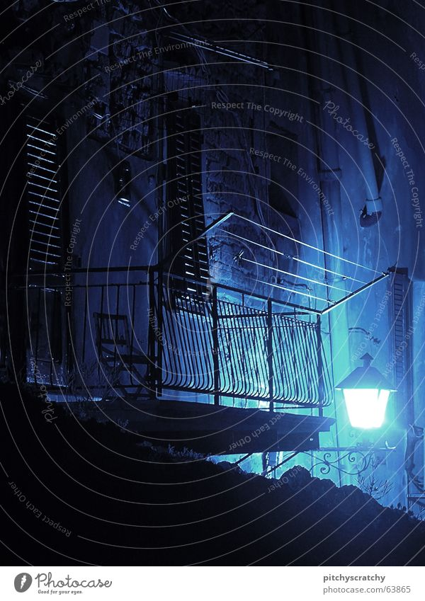 Blue Calm Loneliness Dark Sadness Bright Sleep Grief Chair Italy Lantern Balcony Boredom Doomed Badlands Flashy