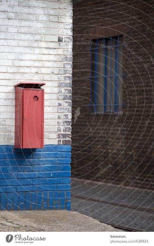 Blue White Red Window Wall (building) Street Lanes & trails Wall (barrier) Stone Metal Facade Concrete Stripe Industry Agriculture Railroad tracks