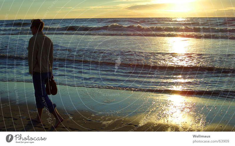 Water Sun Ocean Beach Loneliness Sand Waves Horizon Romance Kitsch