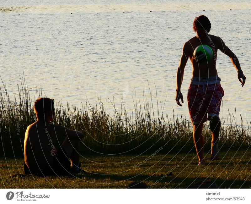 It's your home game Juggle Low-key Lake Summer evening Soccer ball art Coast