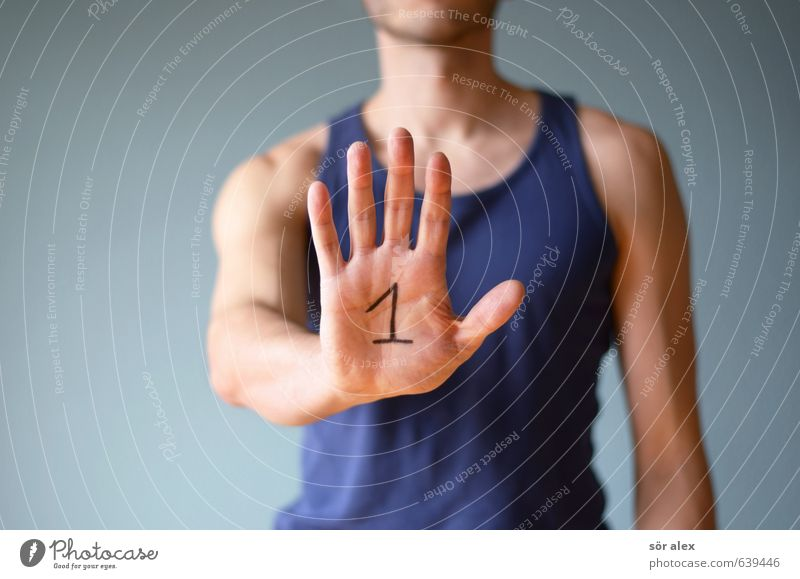 top Sports Fitness Sports Training Sportsperson Success Business Career Human being Masculine Man Adults Hand Fingers Upper body 1 Undershirt Digits and numbers