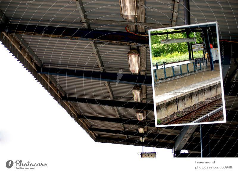 Berlin Roof Mirror Railroad tracks Train station Commuter trains Platform Corrugated sheet iron