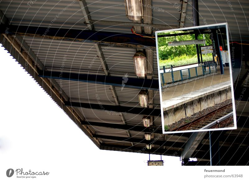 Berlin Roof Mirror Railroad tracks Train station Commuter trains Platform Corrugated sheet iron