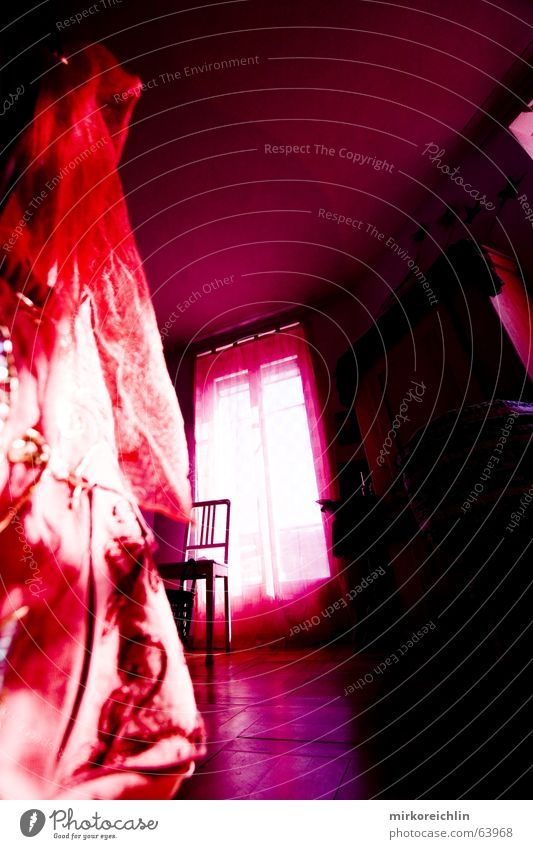 Pink Room I Window Light Red Rose Violet Magenta room Calm bigway Chair Rag mystic