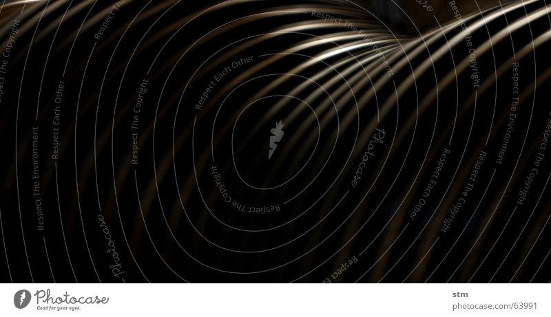 White Black Line Round Illustration Deep Furrow Swing Curved