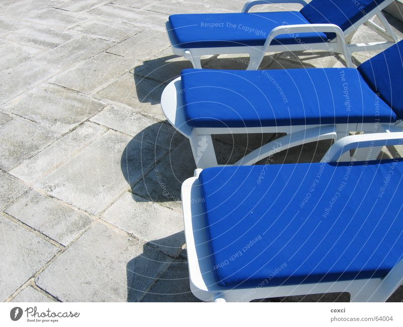 On sunday Swimming pool Dance floor Relaxation chair blue