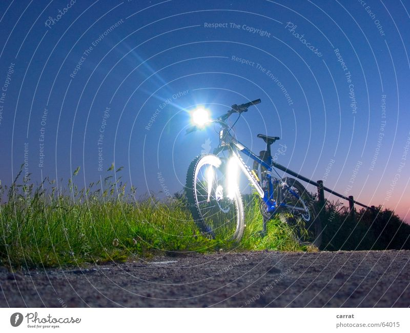 NightRider Bicycle Mountain bike Light Radiation Cathode Long exposure Green Color gradient Summer Rostock Futurism Sports Leisure and hobbies freeride beam LED