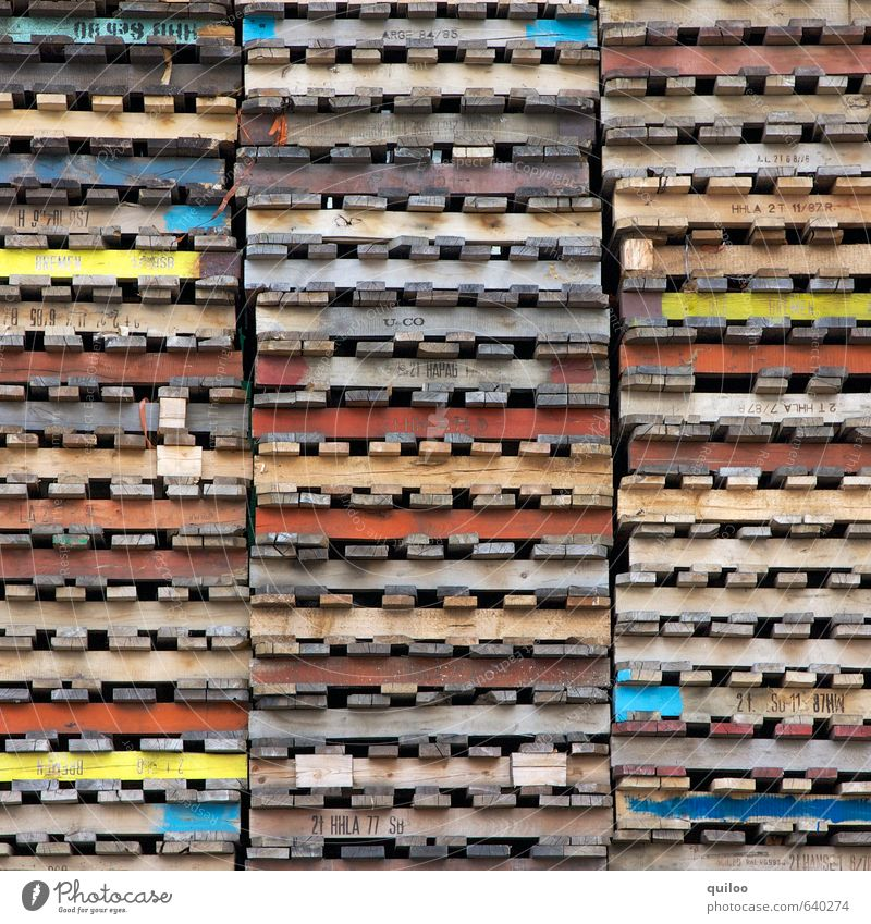 by pallet Logistics Palett Wood Characters Line Lie Wait Multicoloured Protection Orderliness Business Equal Uniqueness Symmetry Arrangement Flat Stack