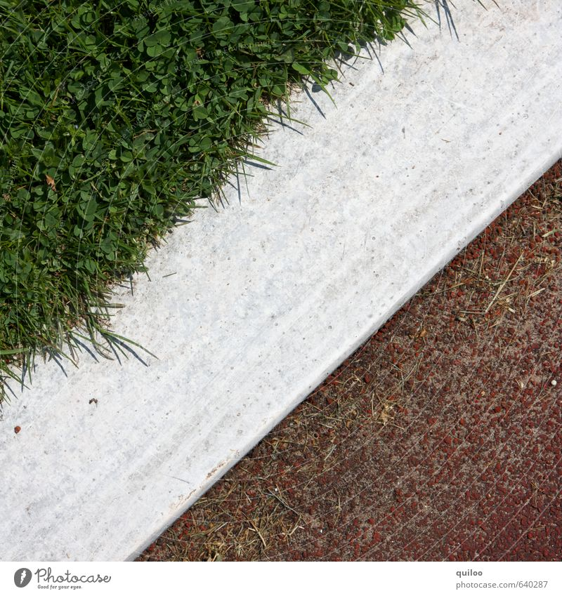 Green White Red Meadow Sports Grass Line Contentment Signs and labeling Uniqueness Stripe Part Division Border Testing & Control