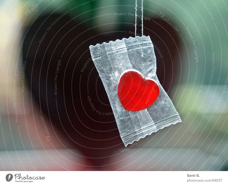 Red Joy Emotions Love Decoration Nutrition Heart Sweet String Protection Candy Hang Lovesickness Sugar Packaged