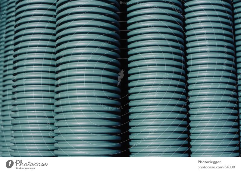 Construction site Pipe Stack Transmission lines Striped Production Blue-green