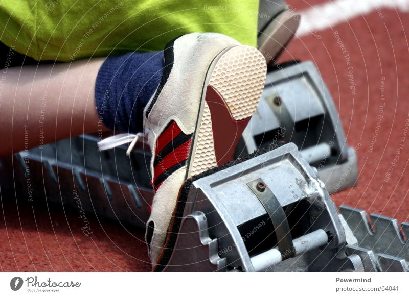 Sports Running Fitness Runner Sports Training Sneakers Stadium Starting block (track and field) School sport Track and Field Sporting grounds Track and field athlete Running sports Running track Sprinter Hundred-metre sprint