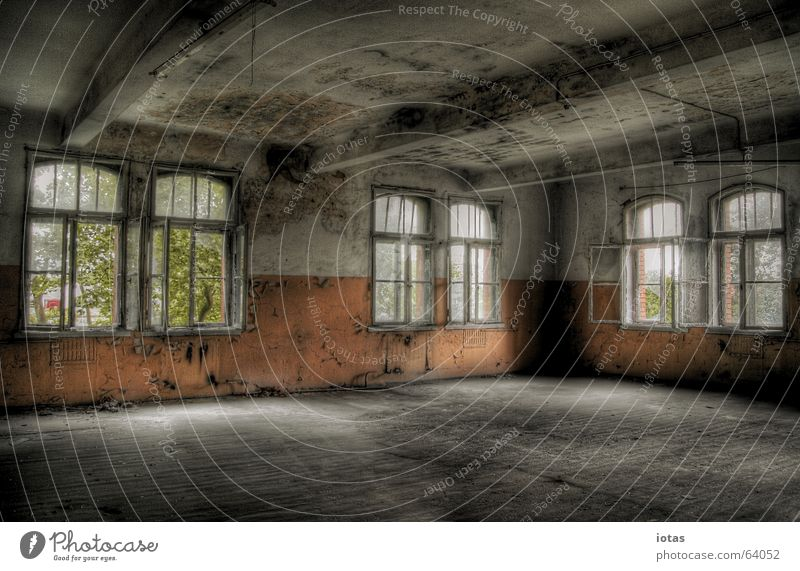 Beautiful Old Red Calm Loneliness Colour Style Window Sadness Building Orange Dirty Germany Industry Open