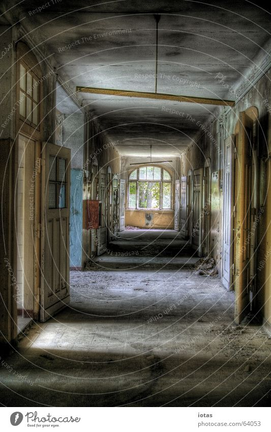 abandoned barracks Style Military building Administration building Doomed Beautiful Exclusion zone Russian Saxony Dirty Derelict Building Leipzig Germany HDR