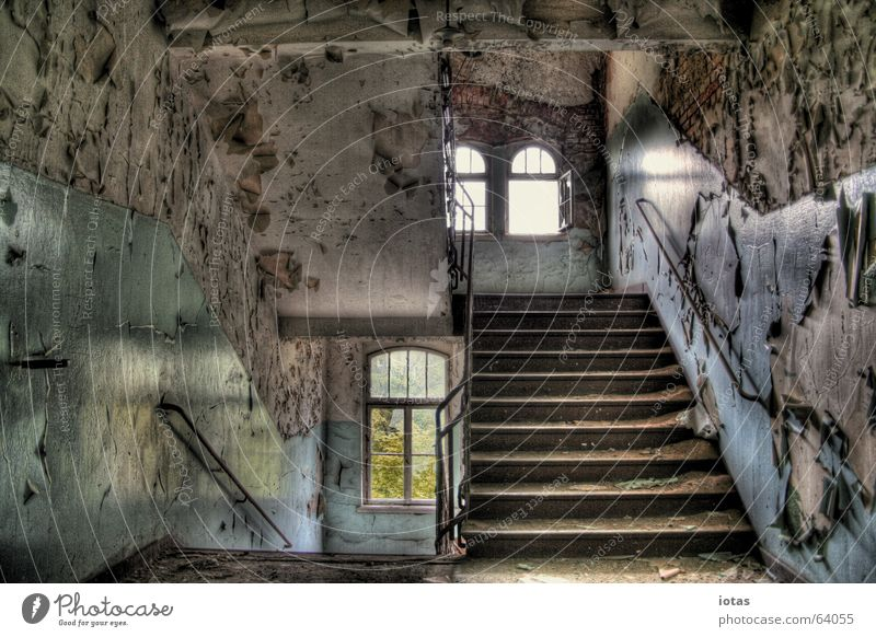 Beautiful Old Red Calm Loneliness Colour Style Window Sadness Building Orange Dirty Germany Stairs Open