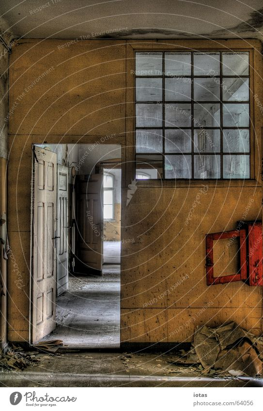 Beautiful Old Red Calm Loneliness Colour Style Window Sadness Building Orange Dirty Germany Dangerous Open