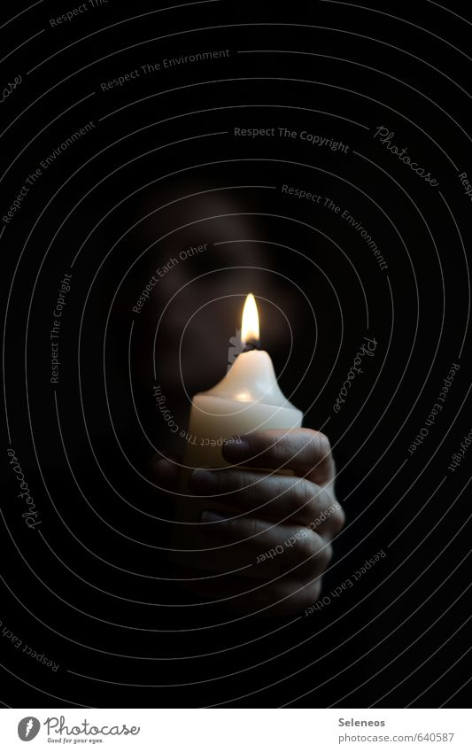 Human being Loneliness Hand Dark Sadness Death Room Glittering Fingers Grief Candle Pain Concern Candlelight Candle flame