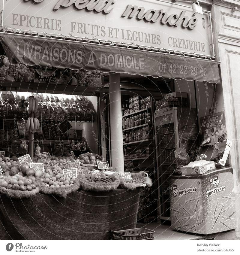paris religion 2 Paris France Food Nutrition Store premises Vegetable Black & white photo Markets