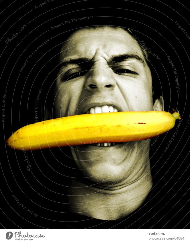 banana Banana Evil Appetite Animalistic Face mad angry Wild animal hungry Nutrition eat roarrr Eating