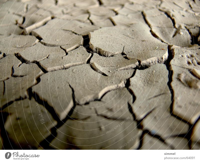 Dust dry! Dry Earth Floor covering Crack & Rip & Tear Dirty Desert dust-dry