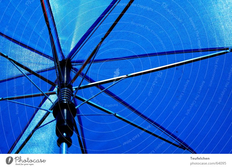 Sun Ocean Blue Summer Meadow Grass Rain Lie Umbrella Sunbathing Aluminium Framework