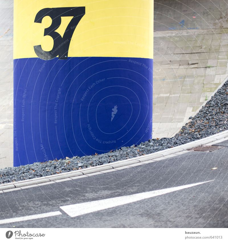 Blue Old City Yellow Street Lanes & trails Gray Stone Transport Signs and labeling Growth Concrete Beginning Bridge Change Digits and numbers