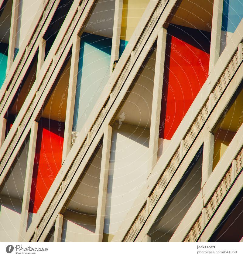 Unité Elegant Design Living or residing Architecture World heritage Charlottenburg Facade Balcony Tourist Attraction Concrete Ornament Line Famousness Modern