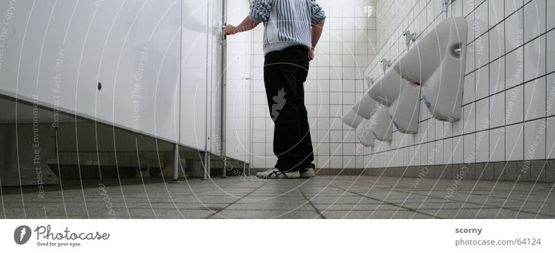 White Floor covering Tile Toilet Urinate Urine Relief Urinal Excretion Partition wall Piddler