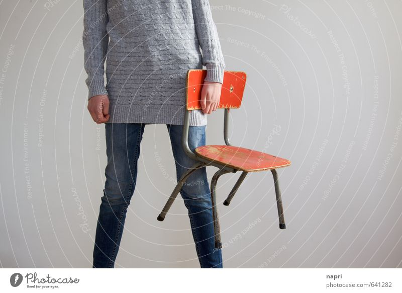 PlaceHolder Chair Kindergarten Child School Schoolchild Student Human being Feminine Girl Young woman Youth (Young adults) Infancy Adults Life 1 Stand Gray Red