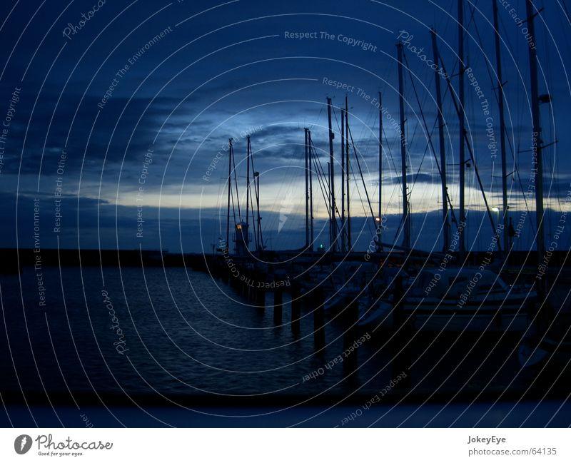 nocturnal harbour Sailboat Twilight Night Calm Sweden Harbour
