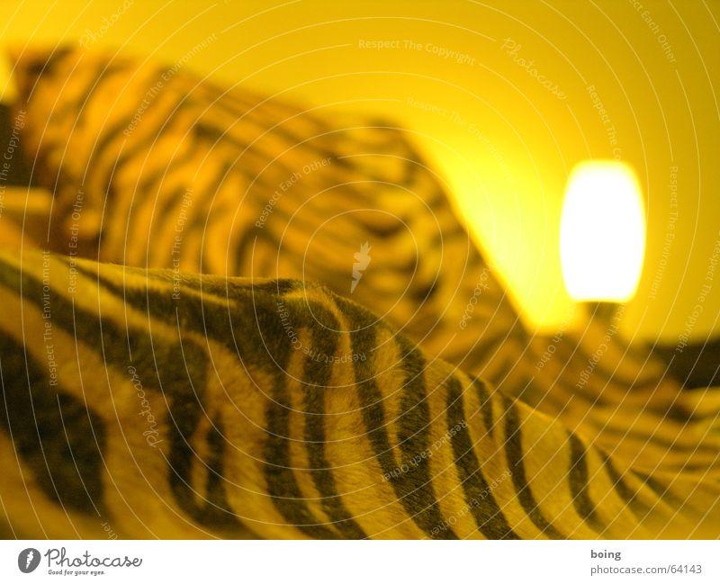A guest at Freuden Bed Blanket Cushion Tiger skin pattern Bedroom Furniture Striped Duvet