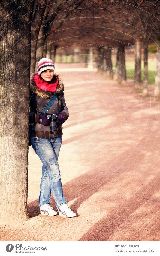 #AK Dresden's Avenues Art Esthetic Woman Jeans Winter coat Winter's day Photographer Take a photo Winter walk Discover Exterior shot Girl Colour photo