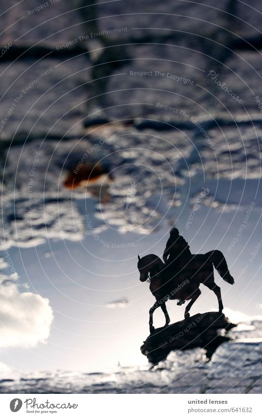 Heaven Art Weather Esthetic Perspective Future Culture Floor covering Might To go for a walk Past Education Horse Monument Cobblestones Dresden