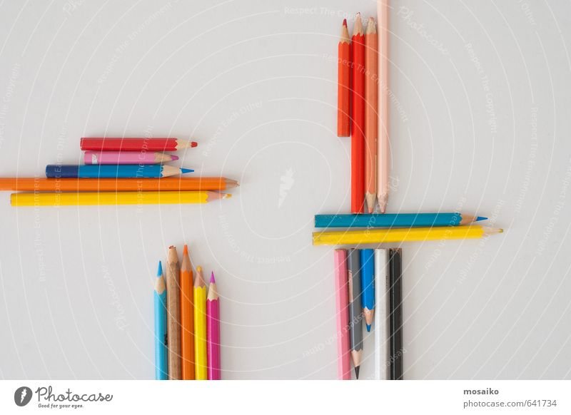 Colored Pencils - Back to school Education Science & Research Kindergarten Child School Schoolchild Student Profession Office work Workplace Business Paper