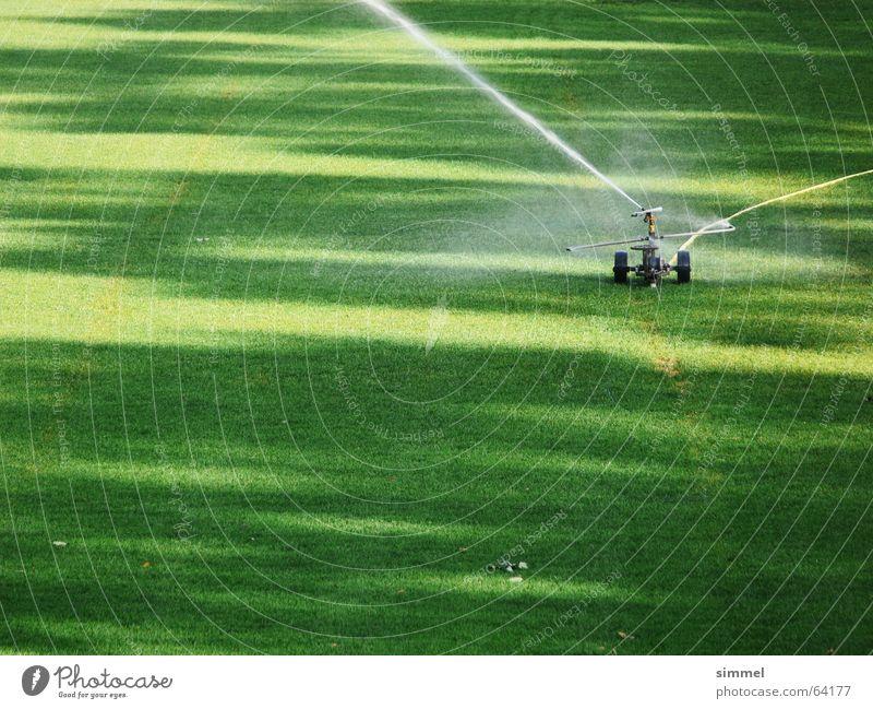 sprinklers Football pitch Green Radiation Jet of water Lawn sprinkler Irrigation Shadow Water