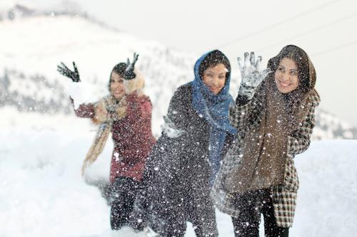 Jamshidiyeh Playing Winter Snow Winter vacation Mountain Human being Feminine Young woman Youth (Young adults) Sister Friendship Body 3 30 - 45 years Adults