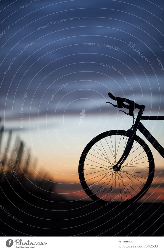 Sky Clouds Far-off places Dark Movement Sports Freedom Bicycle Speed Trip Fitness Round Cycling Driving Cycling tour Hip & trendy