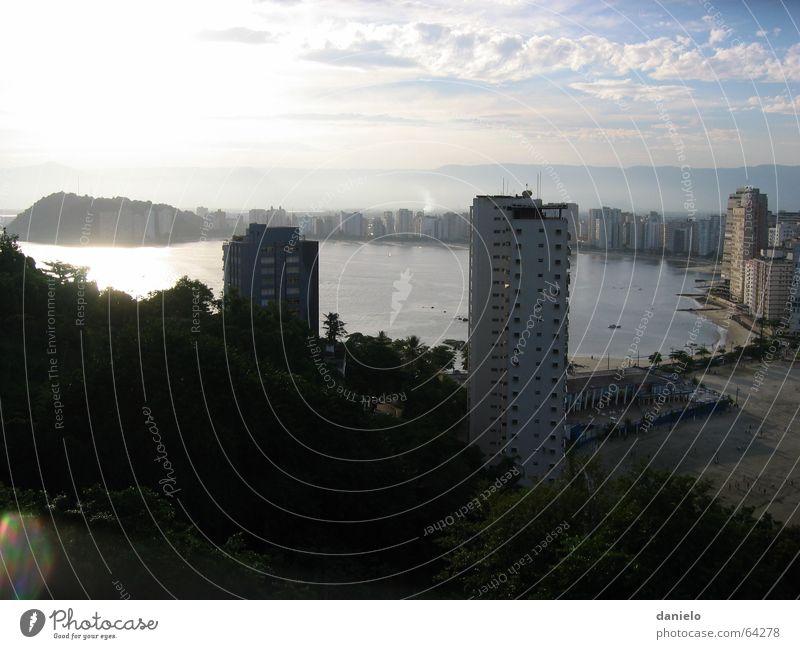 Ocean Beach High-rise Bay Society Dusk Brazil South America Africa Cabo Verde São Paulo São Vicente