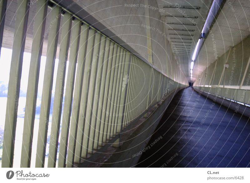 Walking Concrete Bridge Driving Tunnel Handrail