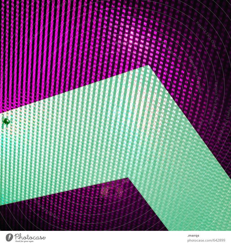 ^ Lifestyle Elegant Style Design Metal Sign Arrow Stripe Sharp-edged Glittering Hip & trendy Above Positive Crazy Violet Colour Perspective Trend-setting