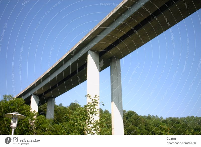motorway bridge Concrete Highway Transport Bridge Landscape