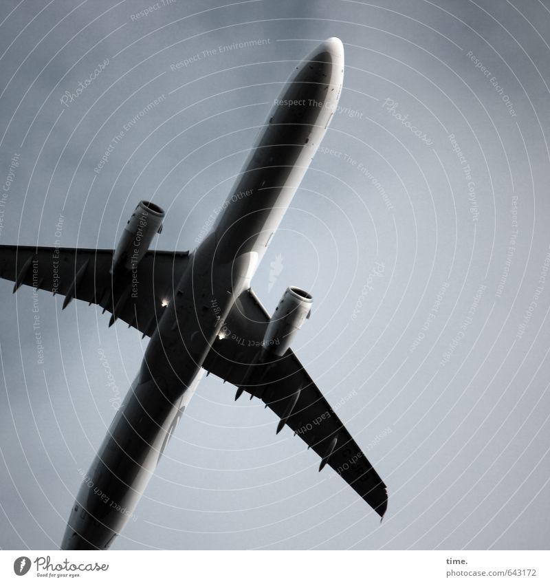 tourist slingshot Aviation Vacation & Travel Tourism Sky Clouds Airplane Passenger plane Metal Steel Flying Threat Large Tall Movement Elegant Speed War