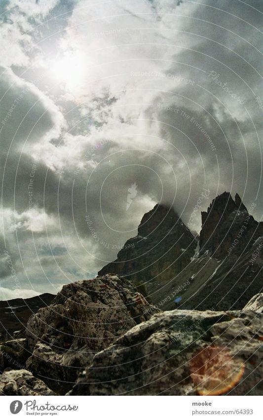 Sun Clouds Mountain Rock Sparse