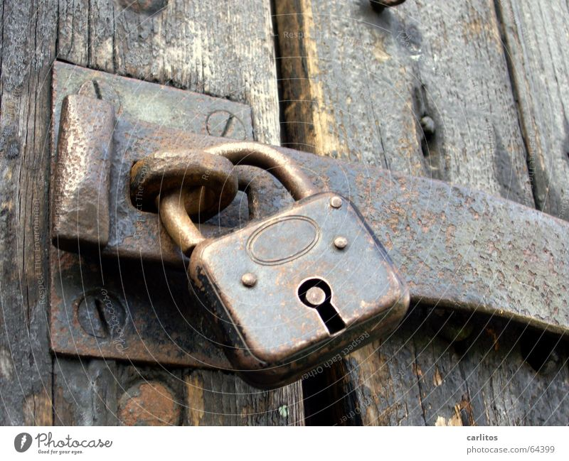 my car, my boat, my castle. Register Padlock Data protection Security force Password Locking bar Closed Rust Metal fitting Wooden board Luxury Safety