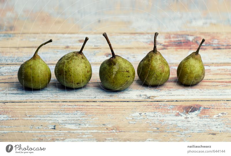 pears Food Fruit Pear Nutrition Organic produce Vegetarian diet Diet Fasting Table Wooden table Fresh Healthy Beautiful Delicious Natural Retro Brown Green