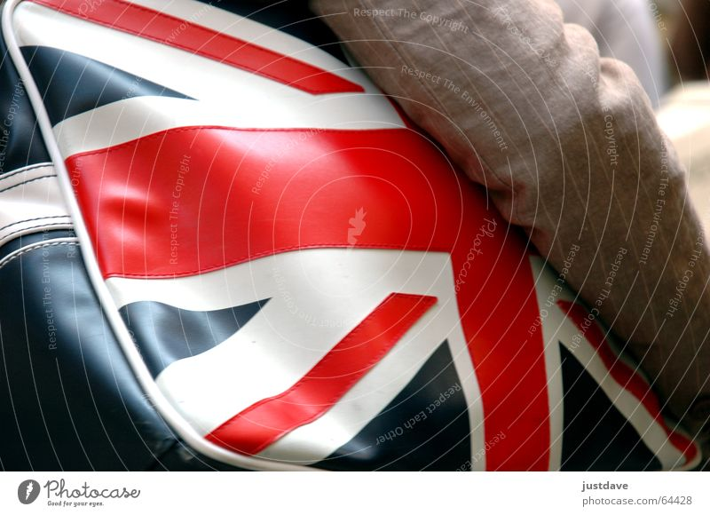 good ol' britain England Great Britain Bag Flag Patriotism Union Jack Vienna Retro Red White Stitching Foreign countries In transit put on patriotic