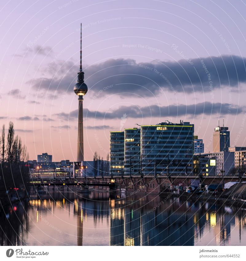 Sky Vacation & Travel House (Residential Structure) Berlin Tourism Bridge River Violet Bank building Downtown Landmark Tourist Attraction Capital city